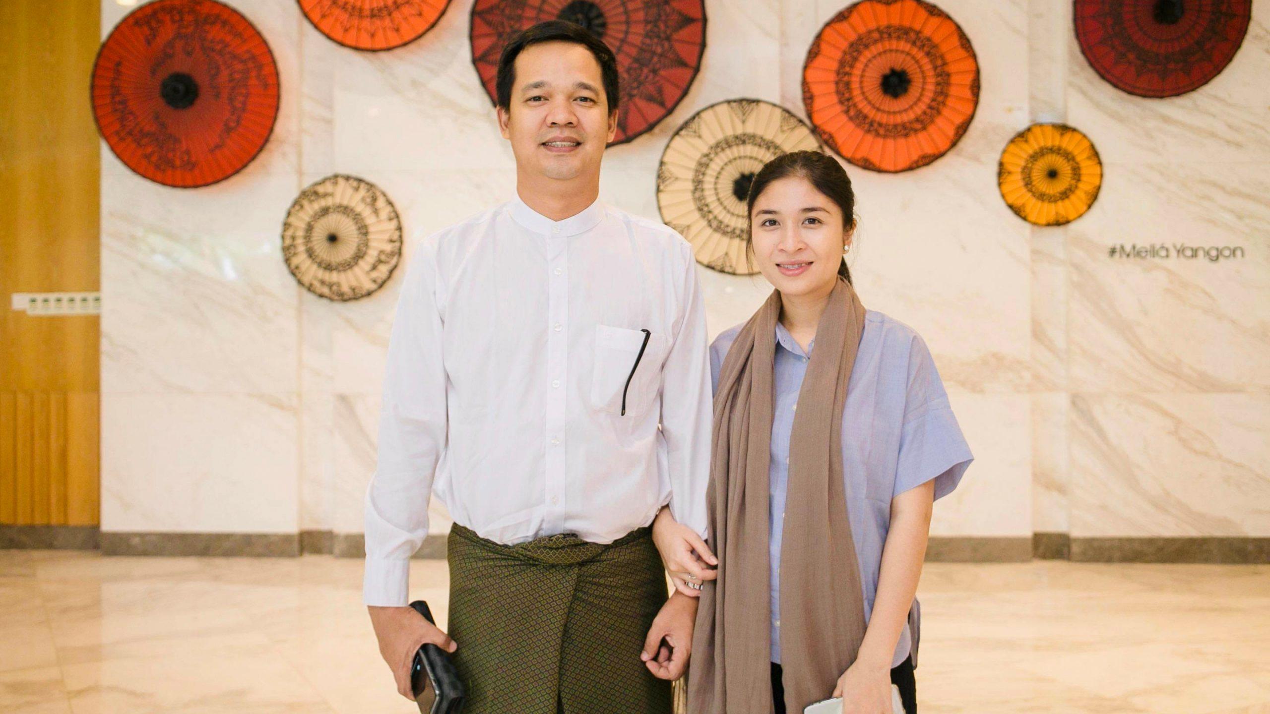 Ko Myo Win Aung and Ma Khin Yupar Aye